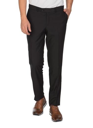 White Stone Karviná Klasik Kalıp Klasik Pantolon Siyah Siyah
